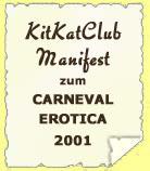 KitKatClub Manifest zum Carneval Erotica 2001